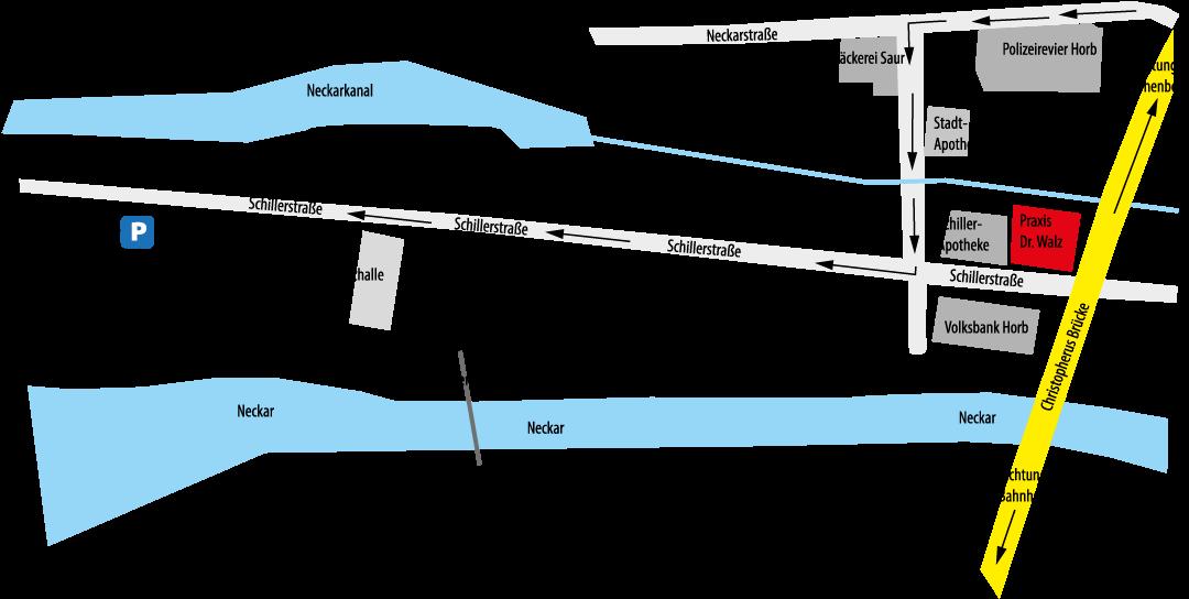 Karte Parken Flösserwasen